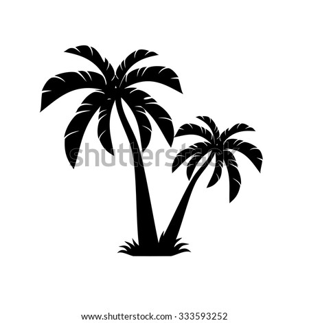 Palm Tree Tropical Background Free Tree Vectors