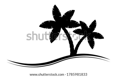 palmtree silhouette graphic