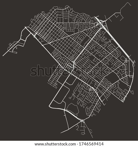 Palo Alto, California, United States urban city map with roads and lanes, town center and periphery, downtown and suburbs, minimalist wall poster, road network, city footprint plan