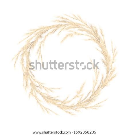 pampas grass golden wreath