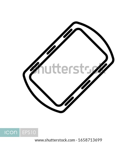 Pan tray for cooking and baking in oven vector icon. Kitchen appliance. Graph symbol for cooking web site design, logo, app, UI Foto d'archivio ©