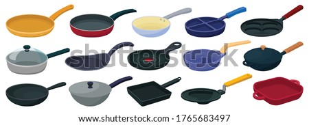 Pan vector cartoon set icon. Vector illustration griddle on white background. Isolated cartoon set icon pan. Сток-фото ©