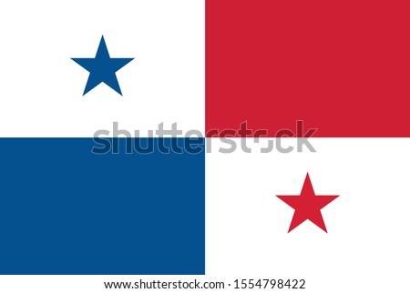 Panama Flag illustration,textured background, Symbols of Panama - Vector