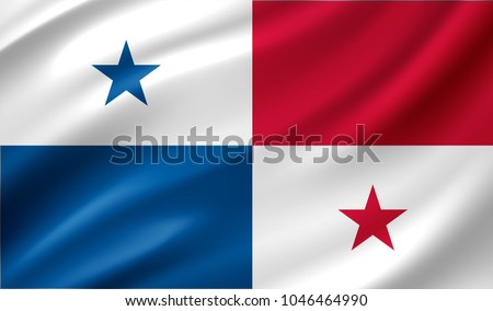 Panama Flag in Vector Illustration