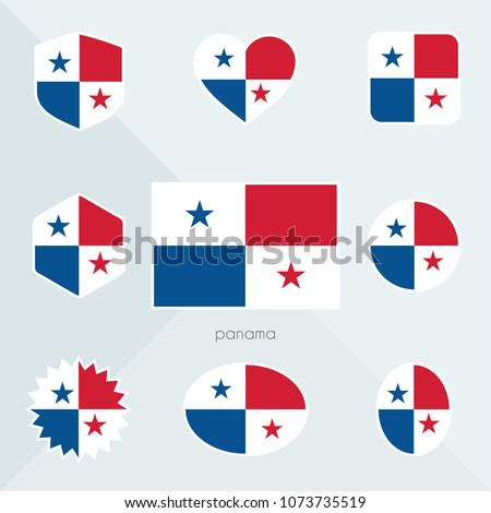 Panama flag. National flag of Panama. Panama vector flag button. Panama independence day. #1073735519