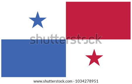 Panama flag, official colors and proportion correctly. National Panama flag #1034278951