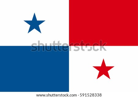 Panama Flag, official colors and proportion correctly. National Panama Flag vector. Panama Flag vector illustration. Panama Flag vector background. Panamanian banner. Panamanian banner. Panamanian.