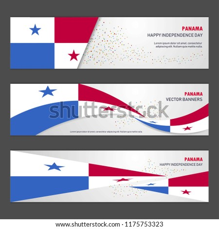 Panama independence day abstract background design banner and flyer, postcard, landscape, celebration vector illustration