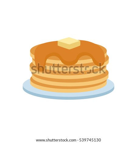 pancakes on plate with cream