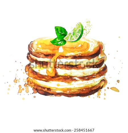 pancakes with lime all elements