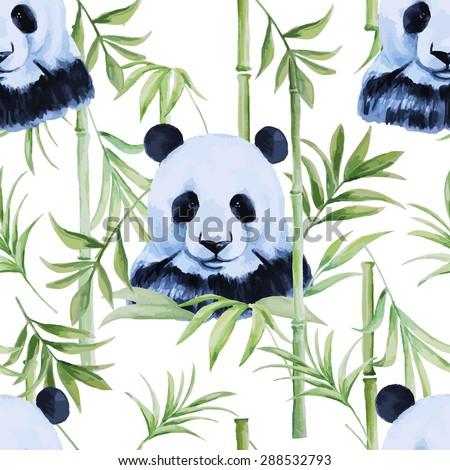 panda  bamboo  pattern