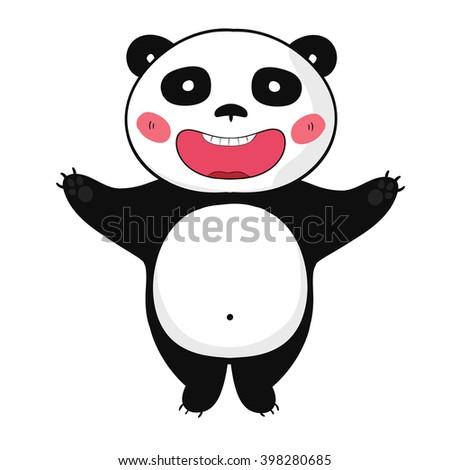 panda bear a fat smiles panda