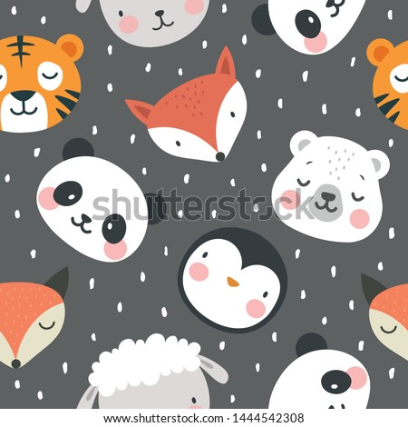 panda bear fox tiger sheep and