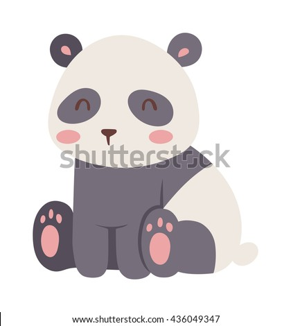 panda bear illustration curious