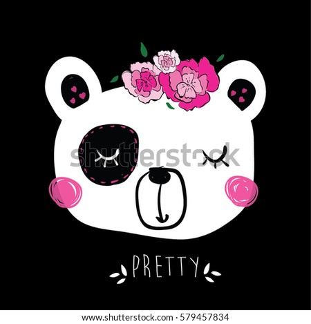 panda bear illustration vector