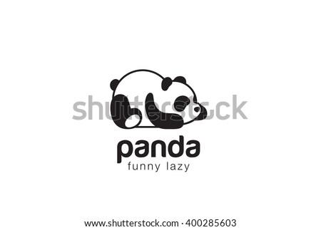 panda bear silhouette logo