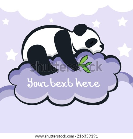 panda bear sleeping on the