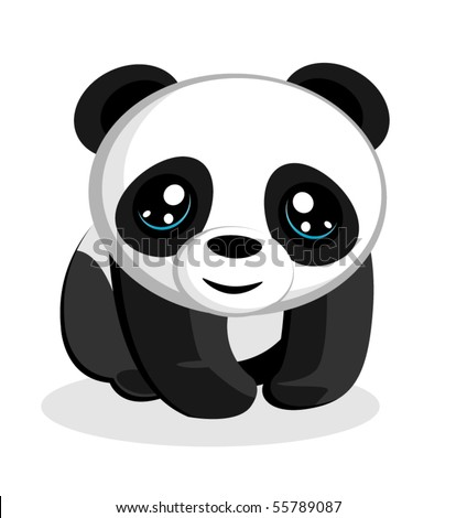 Panda Bear Vector Illustration - stock vector