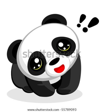 Chinese Panda Vector Panda Bear Vector Illustration