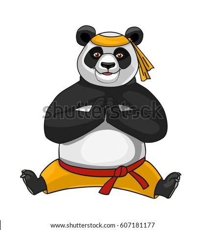 Panda doing splits. Vector.