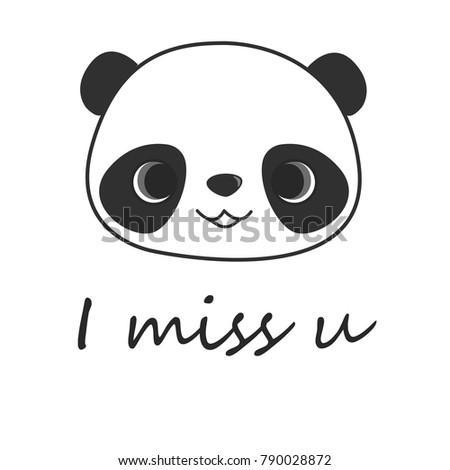 panda i miss u