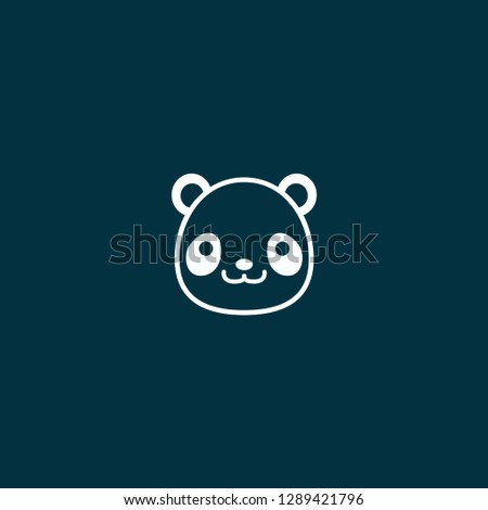 panda illustration vector. panda illustration on blue background