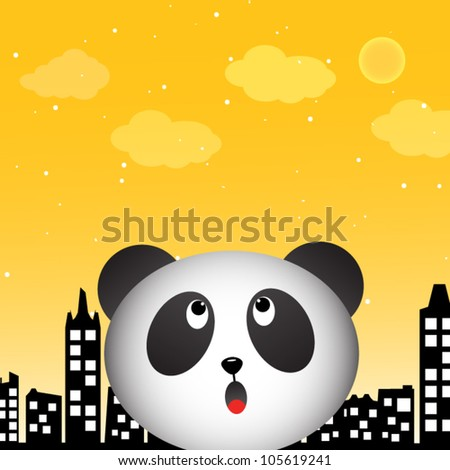Panda in the city