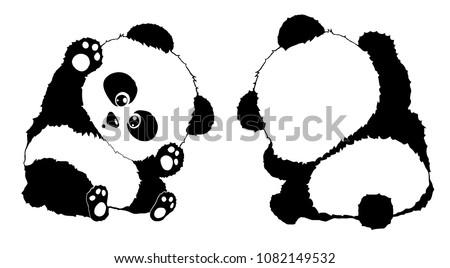 Panda Print For Clothing Design