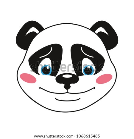 panda the smiley head emotion