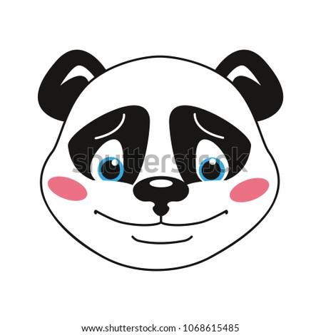 panda the smiley head emotion