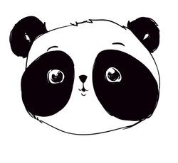 Panda Vector Illustration, Panda