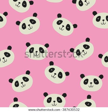 panda vector print
