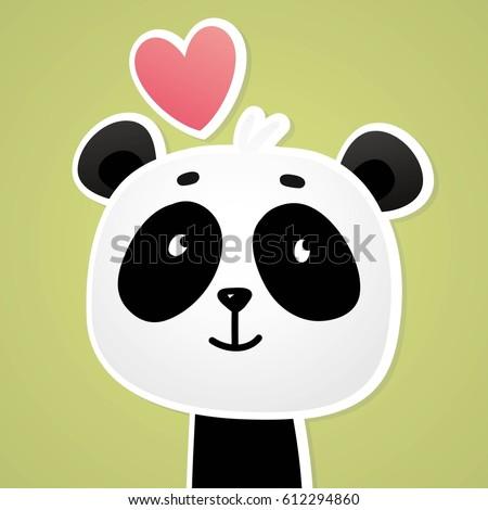 panda vector print love panda