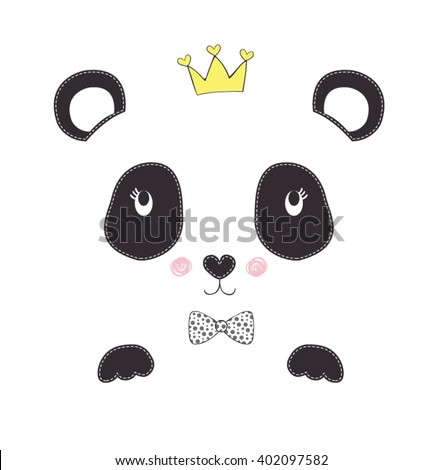 panda vector simple sign a