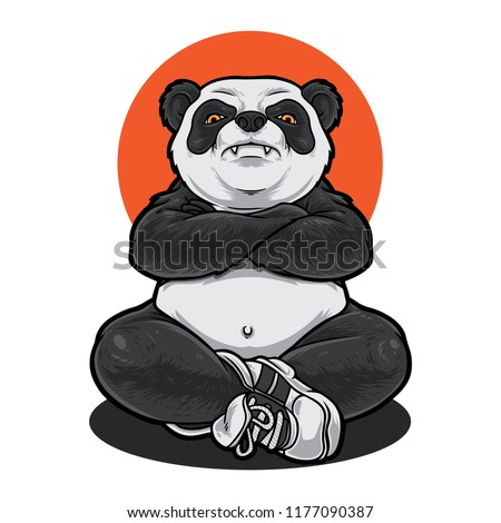 panda with muscular body mean