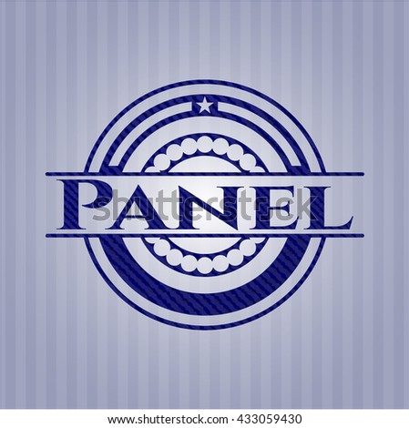 Panel badge with jean texture