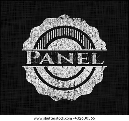 Panel on chalkboard