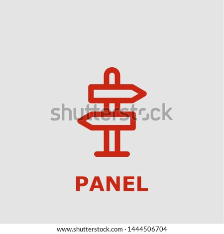 Panel symbol. Outline panel icon. Panel vector illustration for graphic art.