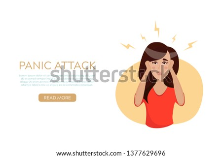 panic attack concept for