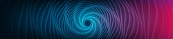 Panorama Abstract Digital Spiral Technology System Background,Warp and Network Concept design,Vector illustration.