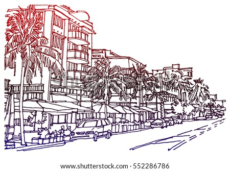 panorama illustration hand
