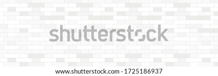 Panorama of a white brick wall Stock photo ©