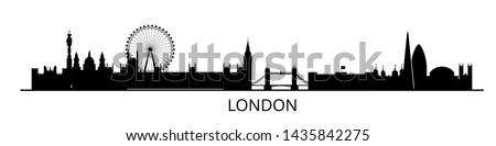panorama of london flat style