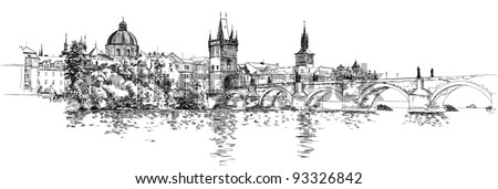 panorama of prague view of