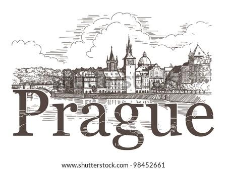 panorama of prague view of