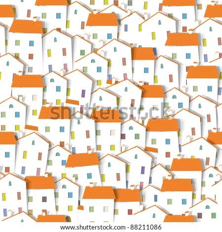panorama town seamless vector