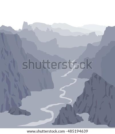 panorama vector illustration