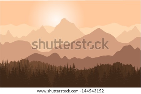 panorama vector illustration of