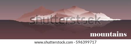 panorama vector illustration of