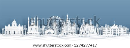 panorama view of moscow  russia